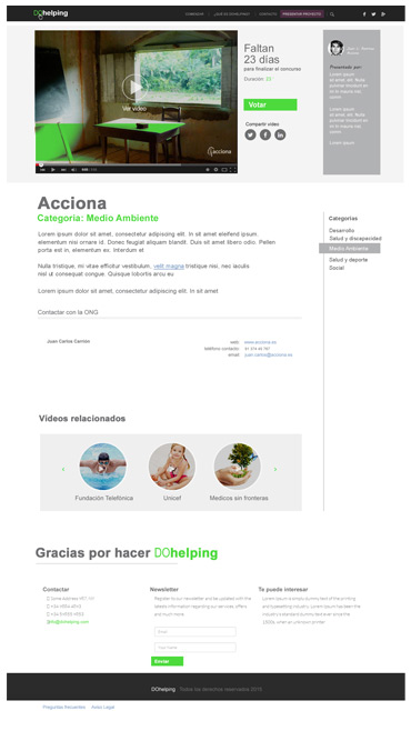 Diseño Freelance Ficha producto - DOhelping